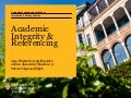 Academic Integrity & Referencing 2017