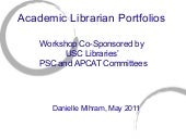 Academic Librarian Portfolios