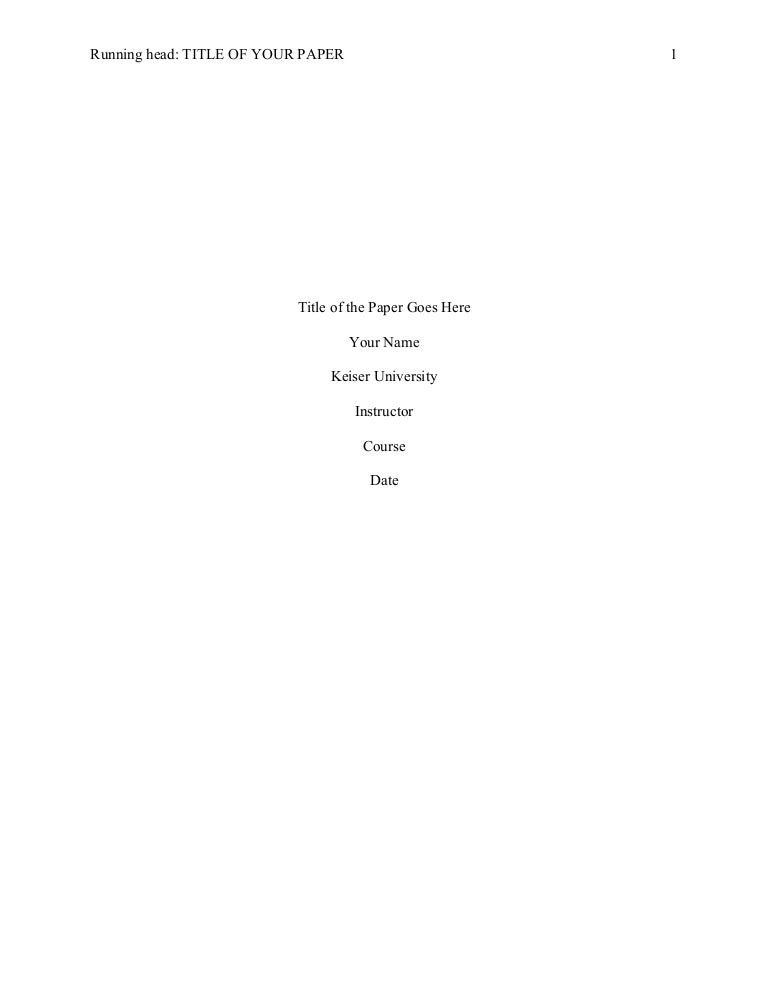 academic paper template