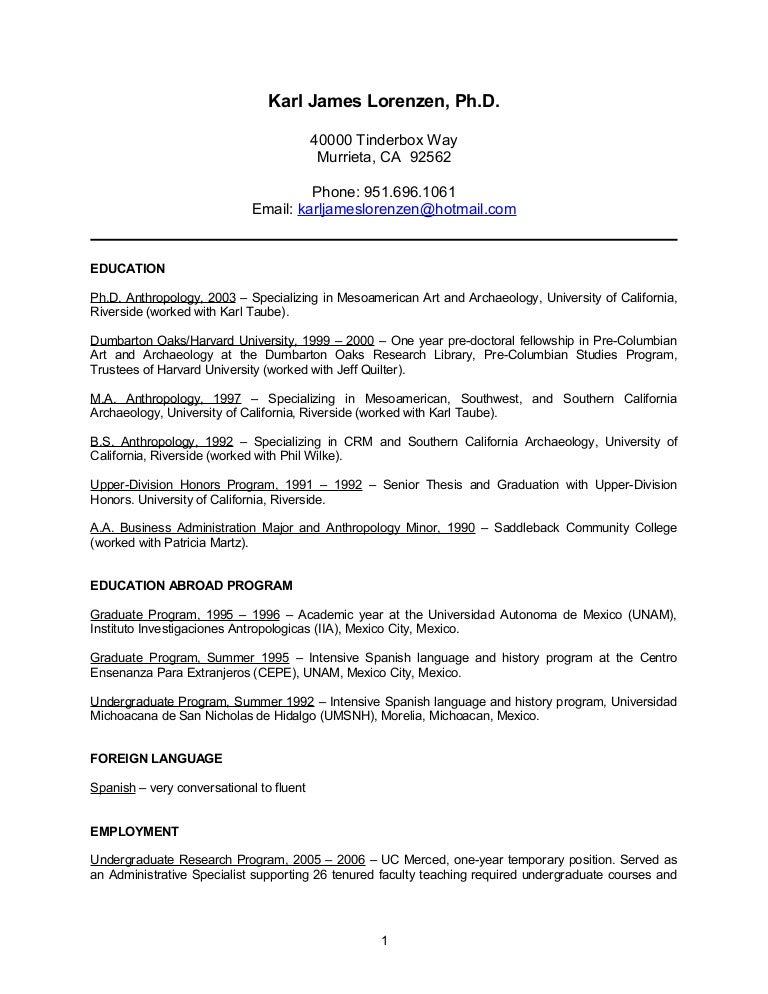 academic resume 2006