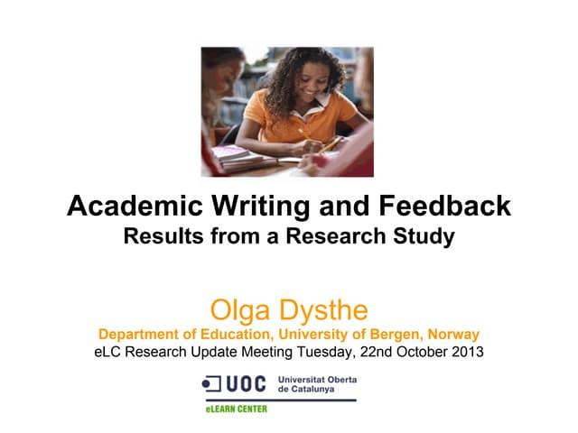 Academic writing and_feedback_olga_dysthe