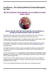 Acai Beeren – Die reichste pflanzliche Antioxidationquelle der Erde