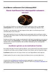 Acai-Beeren verbessern Ihre Lebensqualität!