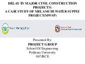 A case study of melamchi water supply project(mwsp)