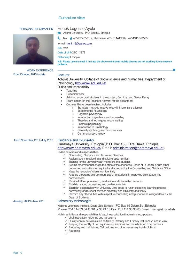 CV Henok legess