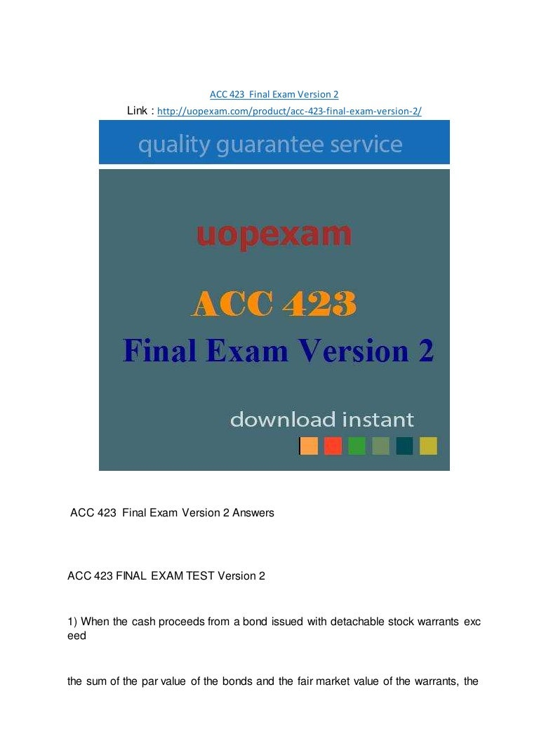 acc 281 final exam Hans albert enterprises purchased computer equipment on may 1, 2006 for $5,000 the company expects to use the equipment for 3 years, using straight line.