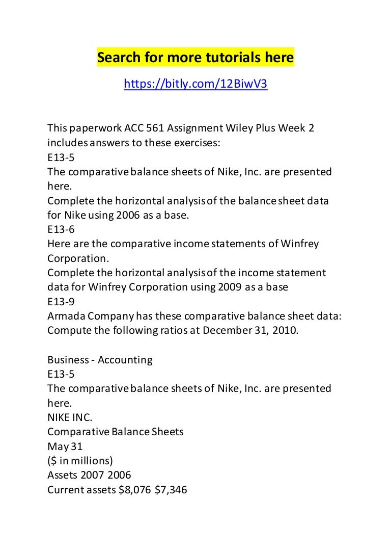 acc 561 assignment wiley plus week 2