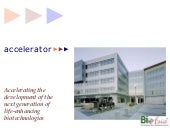 Accelerator overview at BioAsia