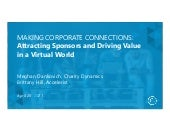 Making Corporate Connections: Attracting Sponsors and Driving Value in a Virtual World