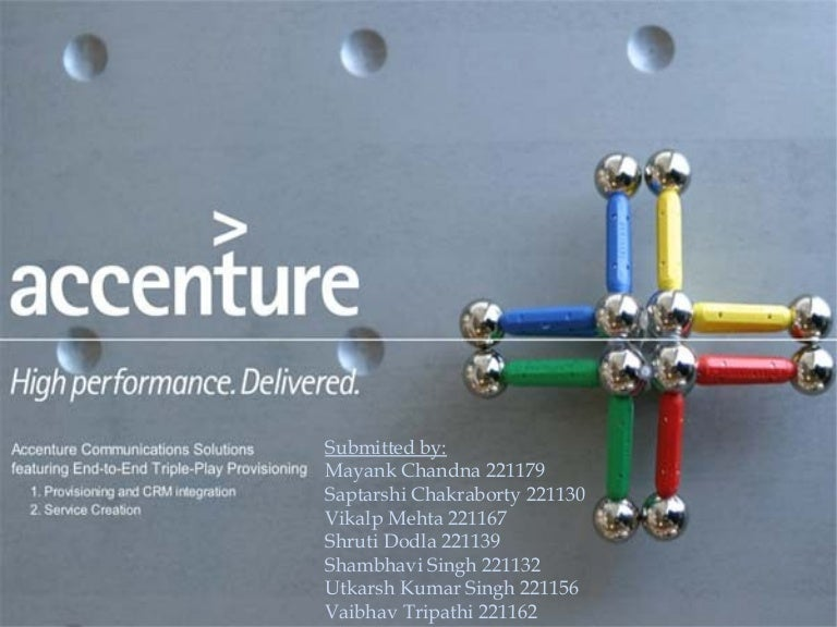 accenture organisational design and structure of formalisation