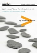 Water and Shale Gas Development - Leveraging the US experience in new shale developments