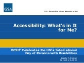 Accessibility: What's in It for Me