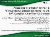 Accessing information for Per- & Polyfluoroalkyl Substances using the US EPA CompTox Chemistry Dashboard