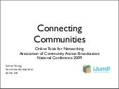 Connecting Commnities - online tools for networking for community groups