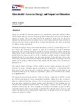 Access to Energy and Impact on Education for Households