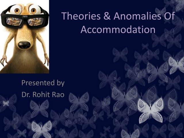 Accommodation of eye