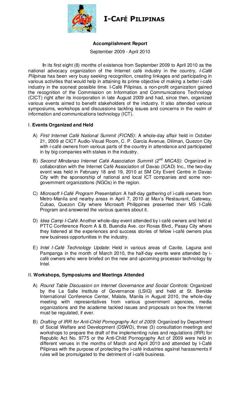 Accomplishment Report Accomplishmentreport 100509012424 Phpapp01 Thumbnail  4 Accomplishment Report Examples Of Financial Report Examples Of Financial  Report  How To Write A Daily Report Sample