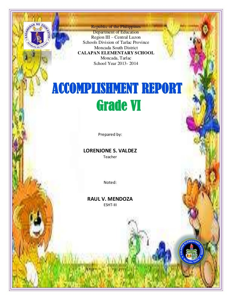 Accomplishment Report: Grade Six