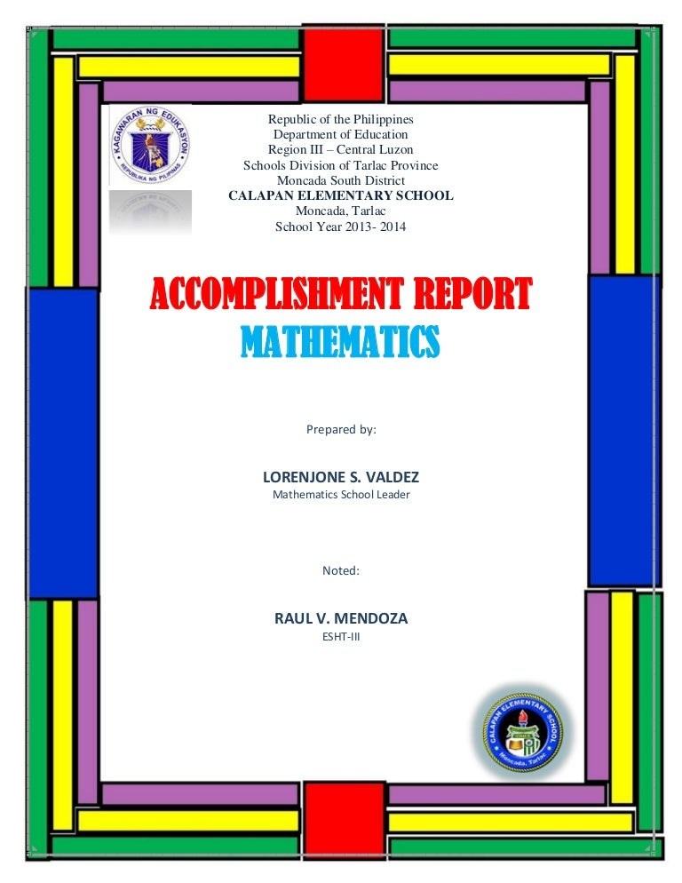 Accomplishment Report Math