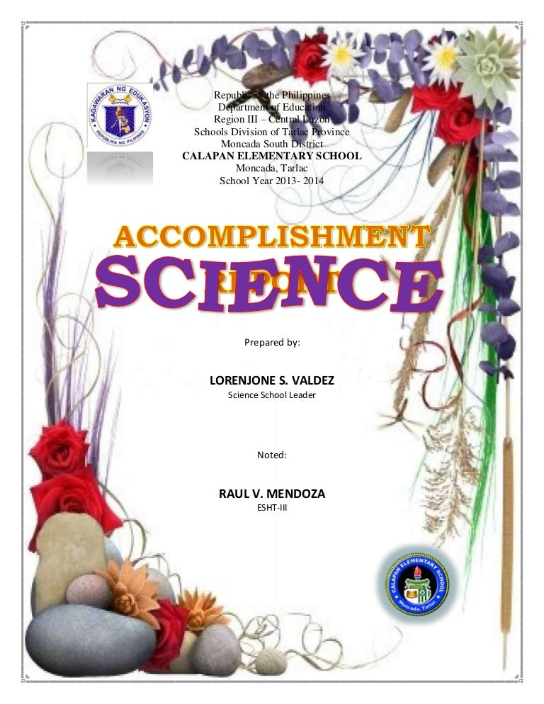 Accomplishment Reports In Science