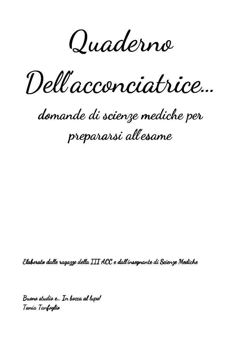 Quaderno per il ripasso - Settore Acconciatura 7b6a70b68eb0