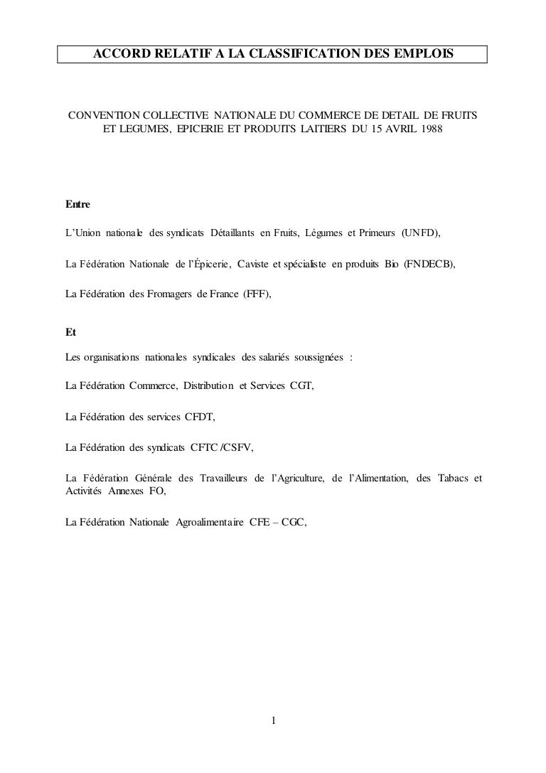Nouvelle Classification Des Emplois Dans La Ccn Du Commerce De Fruit