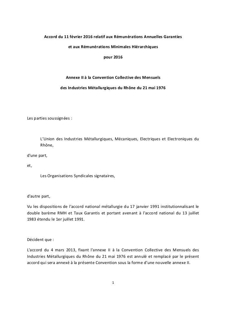 Idcc 878 Accord Salaires Relatif Aux Rag Et Rmh 2016
