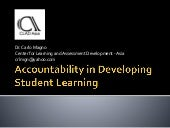 Accountability in Developing Student Learning