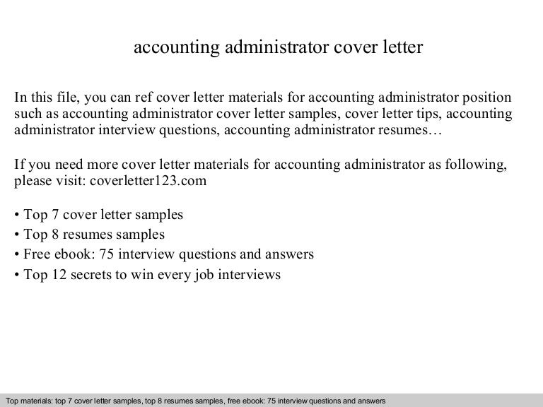 Accounting Administrator Cover Letteraccounting Consultant Cover
