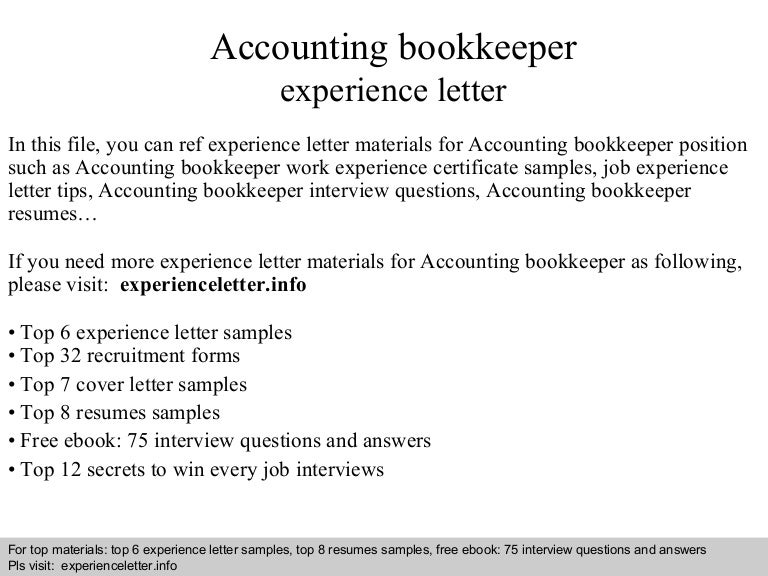 Cover Letter For Bookkeeper. Affordable Price Cover Letter ...