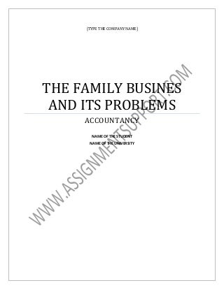 family business research paper