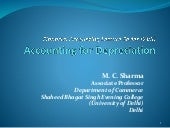 Accounting for depreciation 1