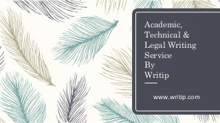 Legal writing help