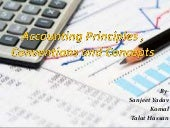 Accounting principles , conventions and concepts