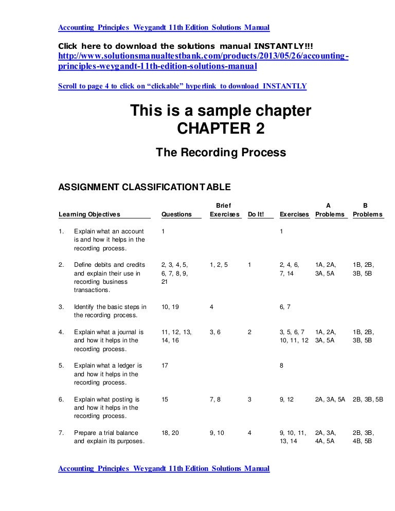 accounting principles weygandt 11th edition solutions manual rh slideshare net Principles of Auditing Test Bank Principles of Auditing Whittington