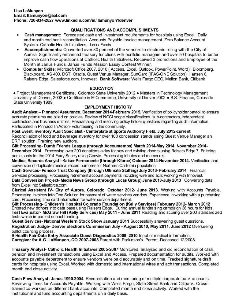 Accounting technician resume 2015