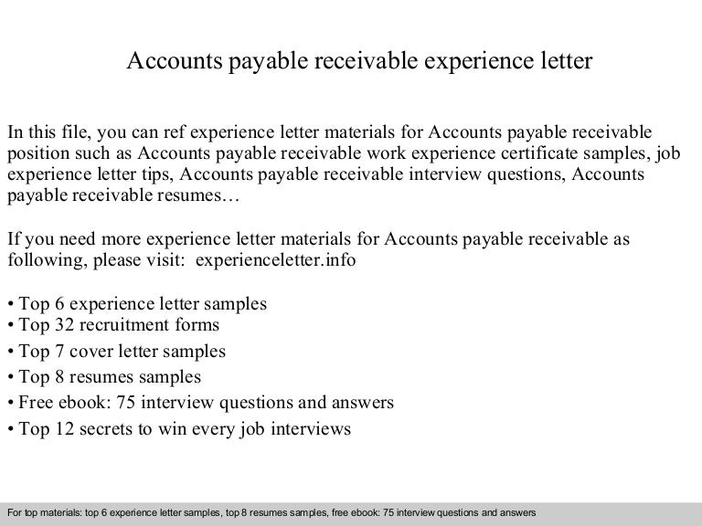 SlideShare  Accounts Payable And Receivable Resume