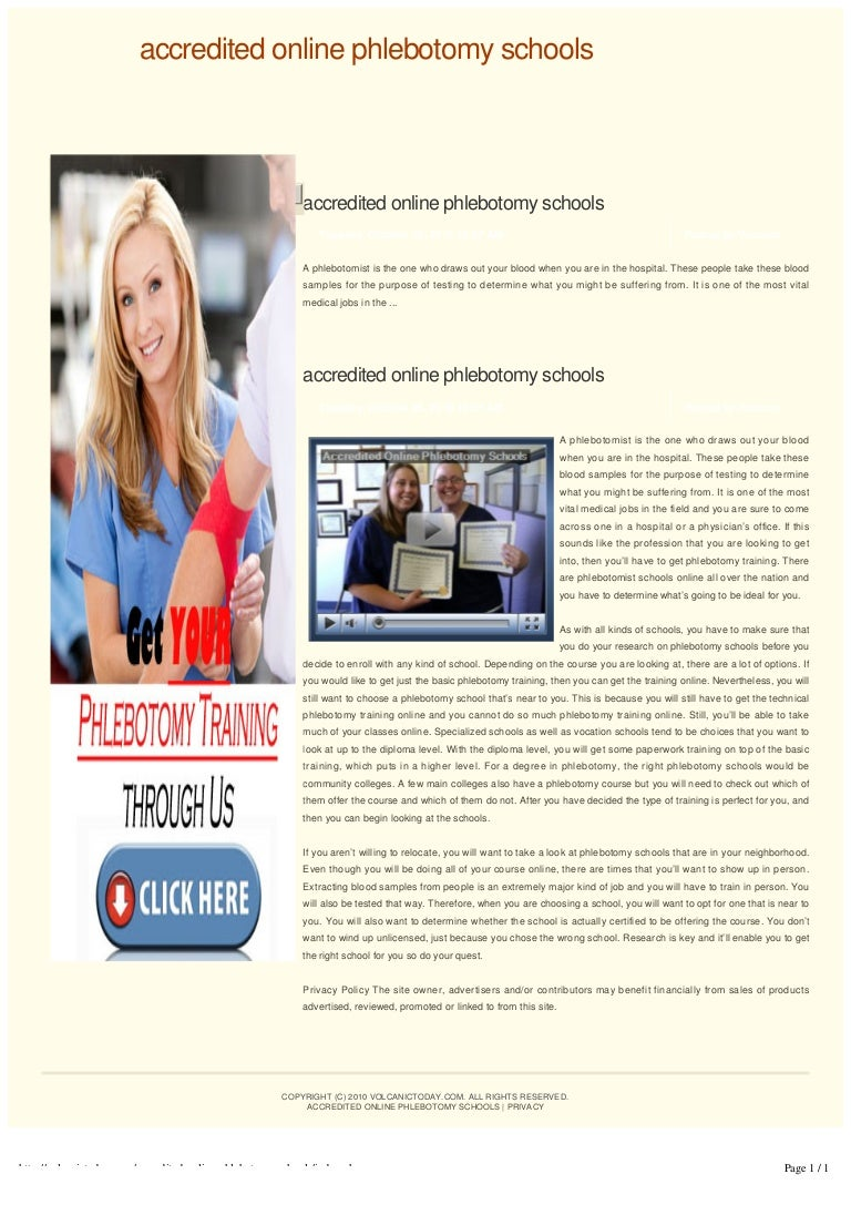 Accredited online phlebotomy schools xflitez Image collections