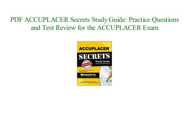 online free ACCUPLACER Secrets Study Guide: Practice ...