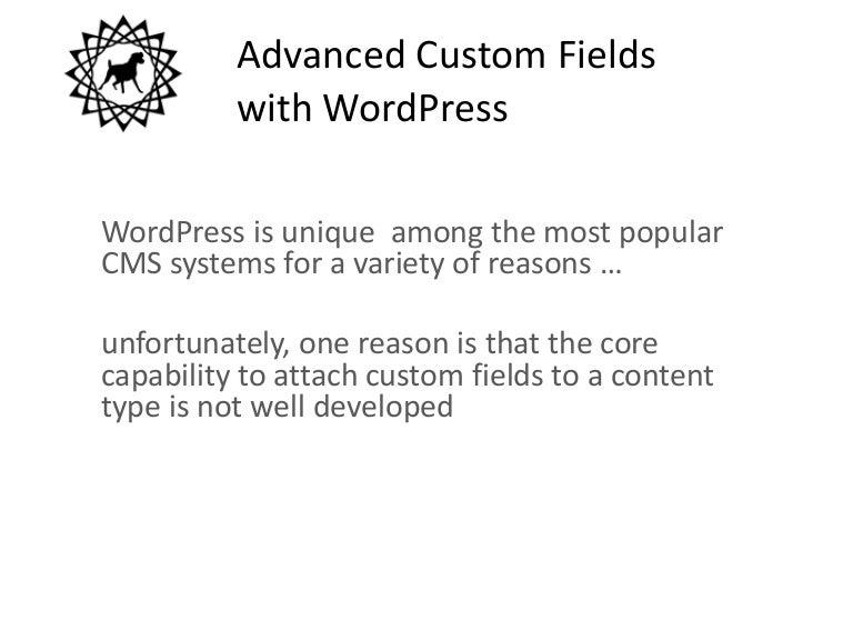 Advanced Custom Fields Overview