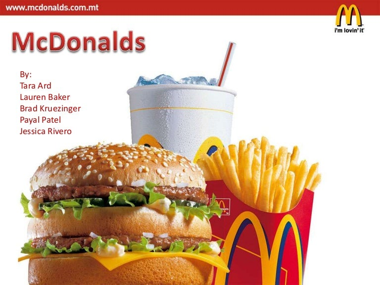 Case study on McDonalds - Assignment Point