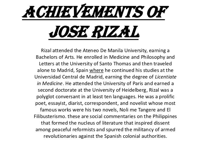 essay of jose rizal my home Jose Rizal