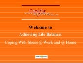 Achieving Life Balance   Coping With Stress   Carefor