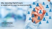 Selecting the Right People: Importance for SMEs