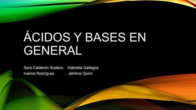 Ácidos y bases: pH