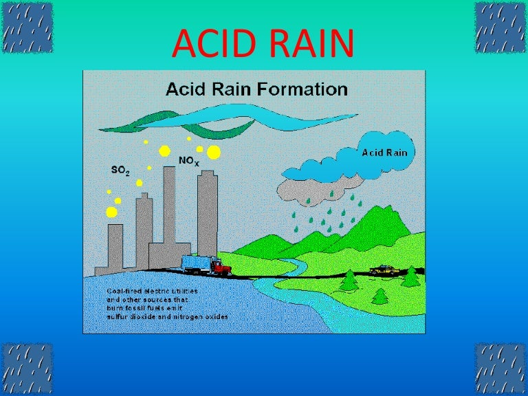 a deadly problem of acid rain The environmental defense fund's ability to reduce acid rain shows how it's  possible  problem decades ago, sulfur dioxide pollution – mostly from coal- fired.
