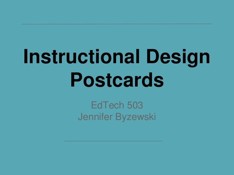 Instructional Design Postcards