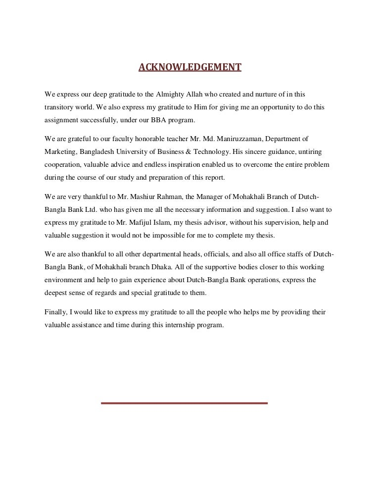 Do acknowledgement page dissertation