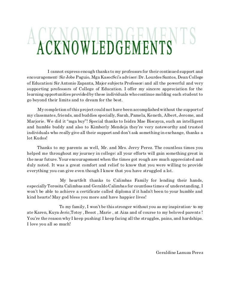 Dissertation acknowledgements