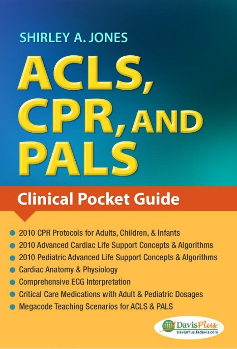 acls cpr and pals jones shirley rh slideshare net pals study guide 2018, made easy pals study guide 2016
